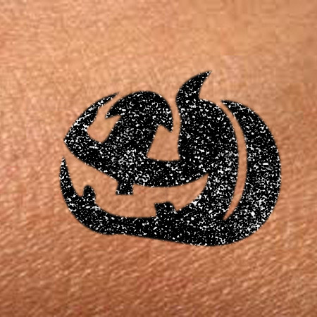 Glitter Too Pumpkin Tattoo
