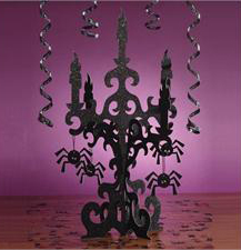 3D glitter candelabra centerpiece for halloween