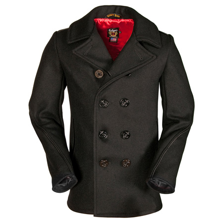 Schott's Slim Fit Pea Coat
