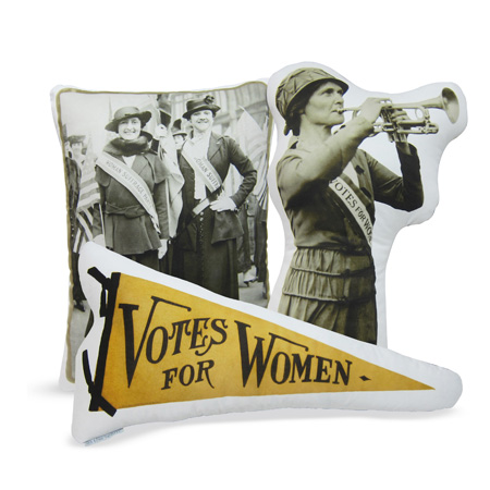 Decorative Women's Suffrage accent pillows