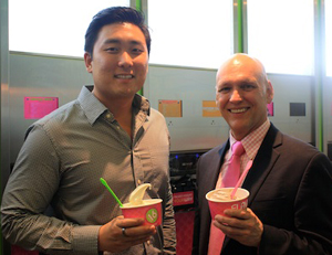 16 Handles CE-Yo! and New York Cares Exceutive Director