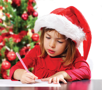 Girl Writing Holiday Wish List
