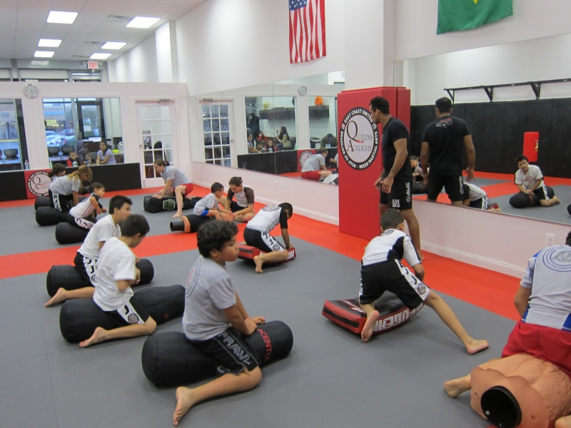 children in mixed martial arts class