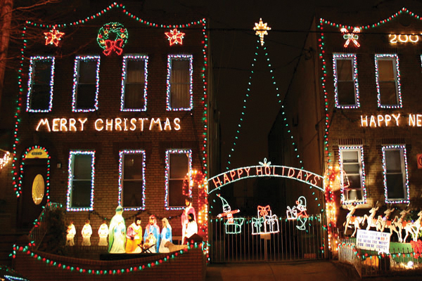 Christmas lights in Brooklyn, Dyker Heights