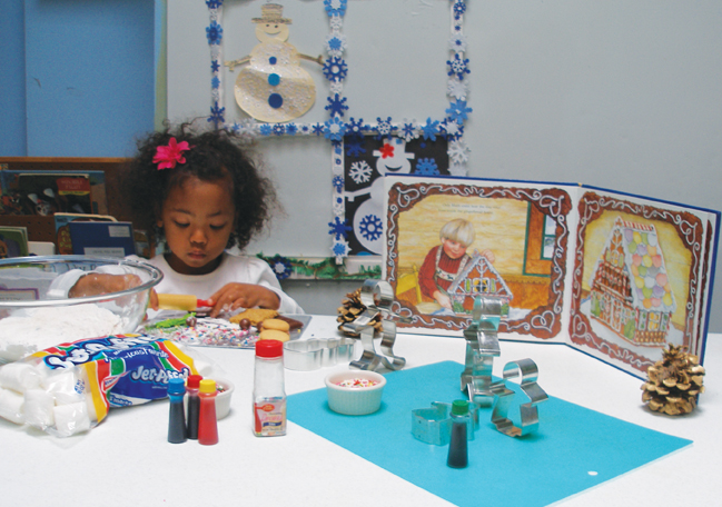 gingerbread house workshop at alley pond