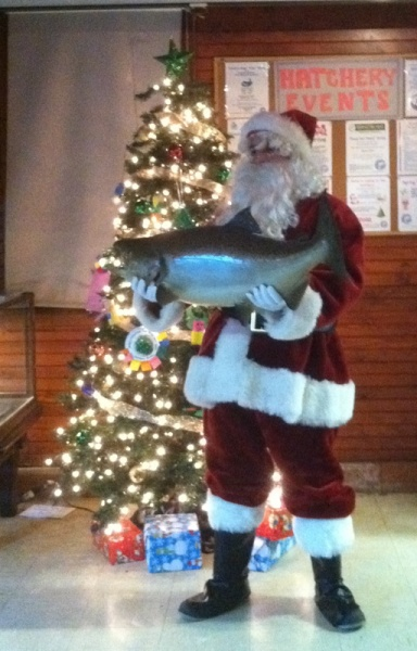 Santa at the Cold Spring Harbor hatchery