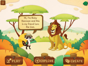 Ranger Rick Jr. app with Ricky Raccoon