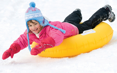 snow tubing, sledding