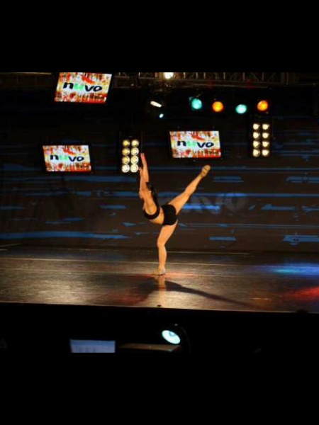 dance student participating in showcase