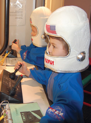 kid astronauts at lower hudson valley challenger center