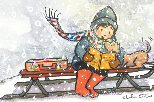 children's book art, let it snow