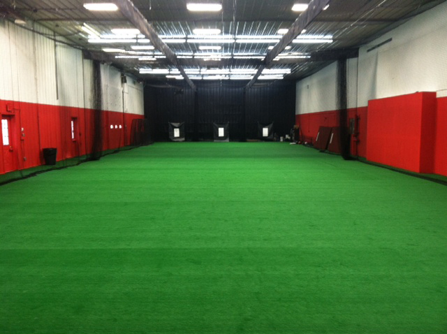 indoor turf at 4D Sports Baseball Academy