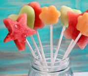 fruit pops, fruit boquet