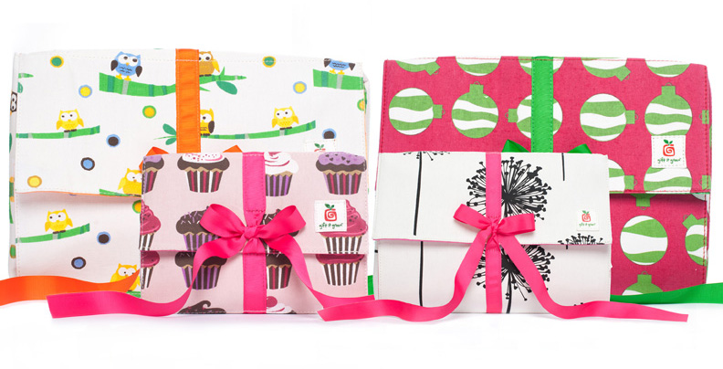 gift it green fabric gift boxes