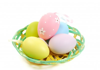 easter basket of eggs