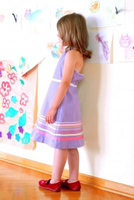 girl in kindergarten classroom