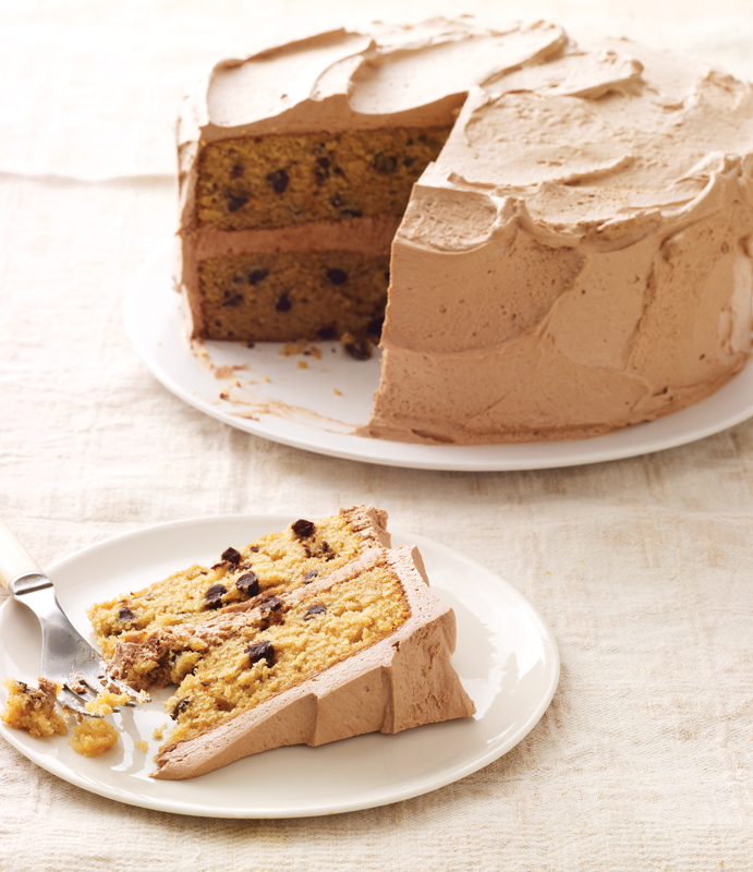 Recipe: Chocolate Chip Layer Cake with Milk Chocolate Mocha Frosting ...
