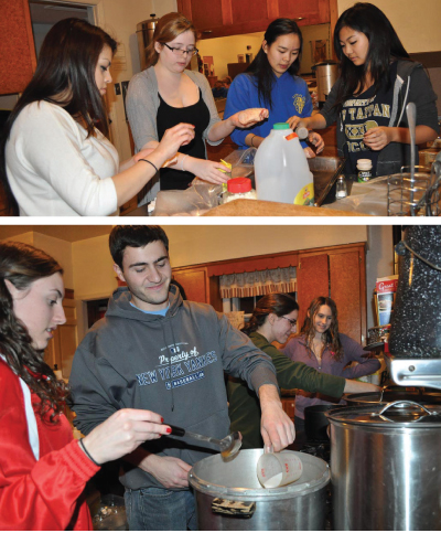Rockland Students Volunteer at Soup Kitchen