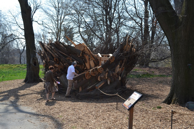 brooklyn botanic garden tree house instillation