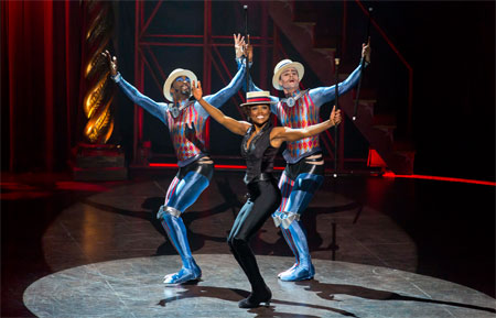 Patina Miller in Pippin on Broadway