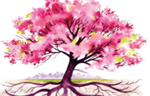 watercolor tree pink