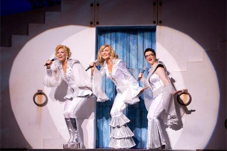 Finley, McLane, Cohen in Mamma Mia!