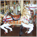golden horse carousel at paramus park mall nj