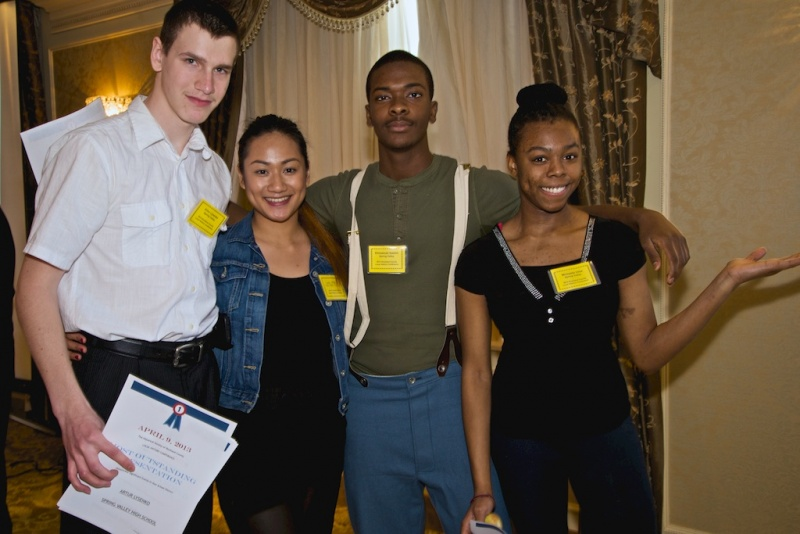 Rockland Honor Students at History Conference