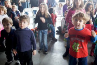 kids at a concert