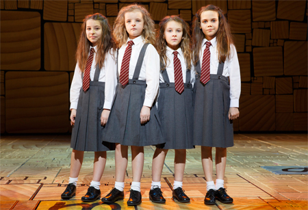Bailey Ryon, Milly Shapiro, Sophia Gennusa, and Oona Laurence