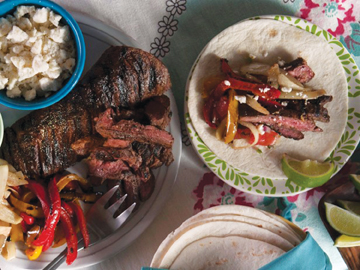skirt steak fajitas by kelsey nixon