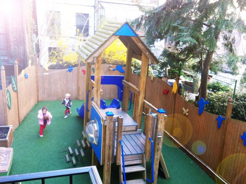 The play yard at Kids Korner Preschool in Chelsea