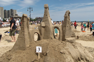 coney island sandcastle contest