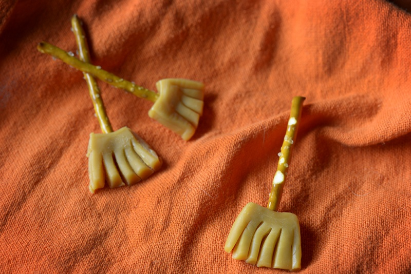 witches' brooms halloween treats