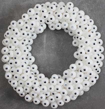 googly eyes halloween wreath