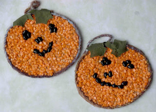 halloween bean mosaics