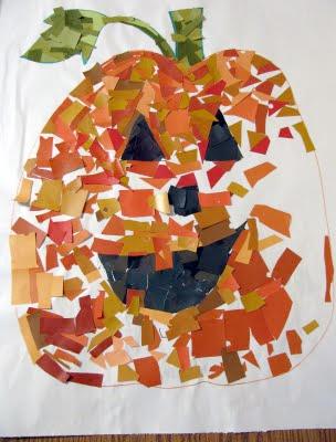 jack o lantern mosaic craft