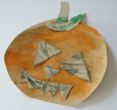 sandpaper pumpkin