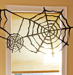 black spiderweb decoration