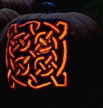 celtic jack o lantern