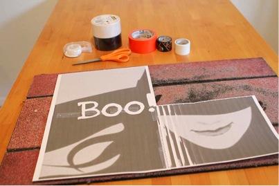 halloween doormat printed image