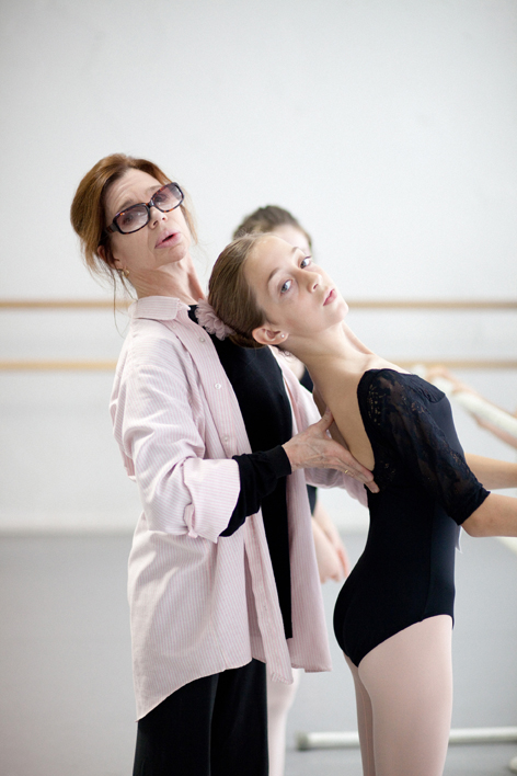 Gelsey Kirkland and ballet student
