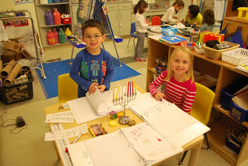 students at the Temple Israel Childhood Center