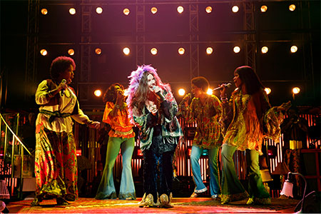 Mary Bridget Davies, Taprena Michelle Augustine, De'Adre Aziza, Allison Blackwell, Nikki Kimbrough in A Night With Janis Joplin