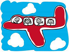 family plane cartoon
