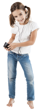 girl with ipod