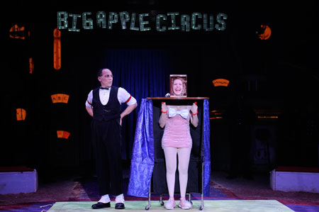 Scott Nelson and Muriel Brugman of the Big Apple Circus