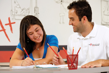 mathnasium student and teacher