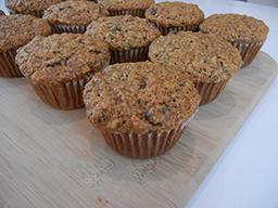 granola banana bran muffins