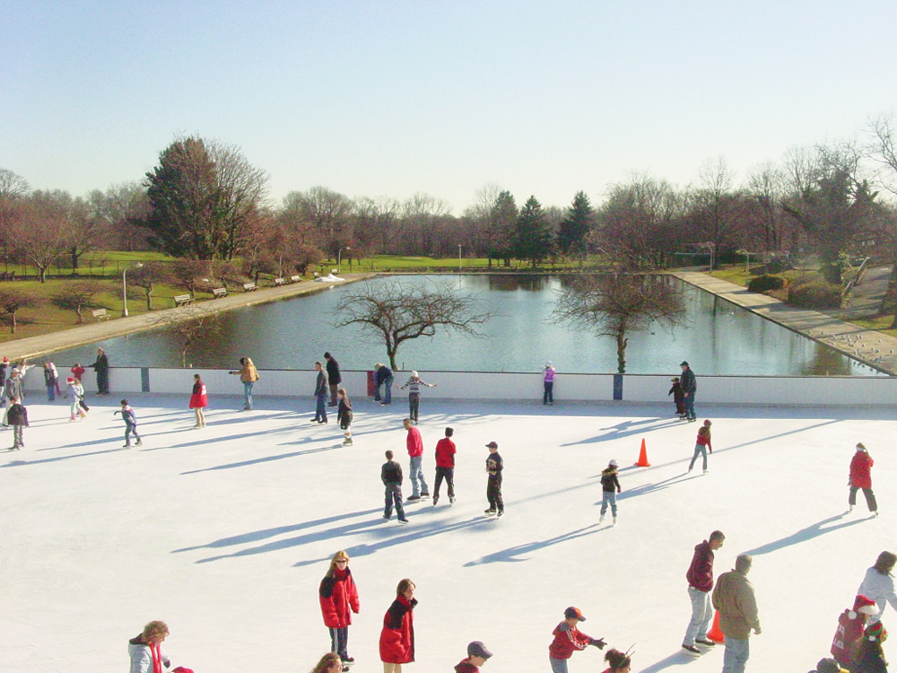 Christopher Morley Park ice skating long island